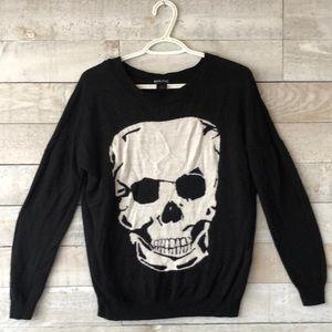 Wet Seal intarsia skull sweater